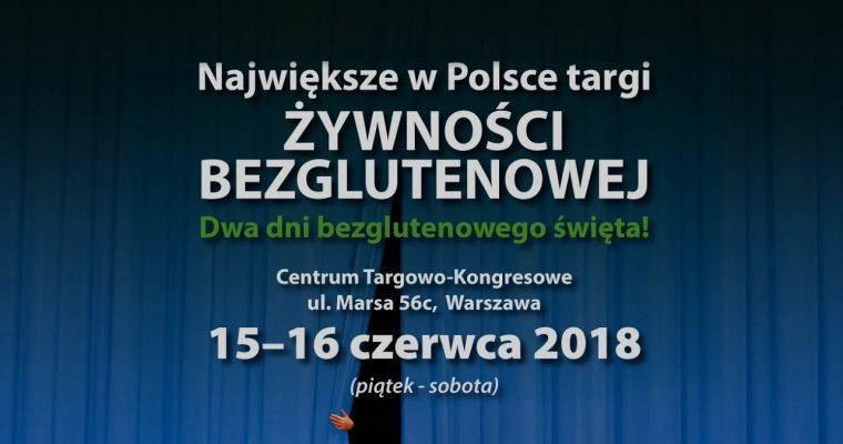 Gluten Free Expo IV 2018 – Warszawa 15-16.06.2018