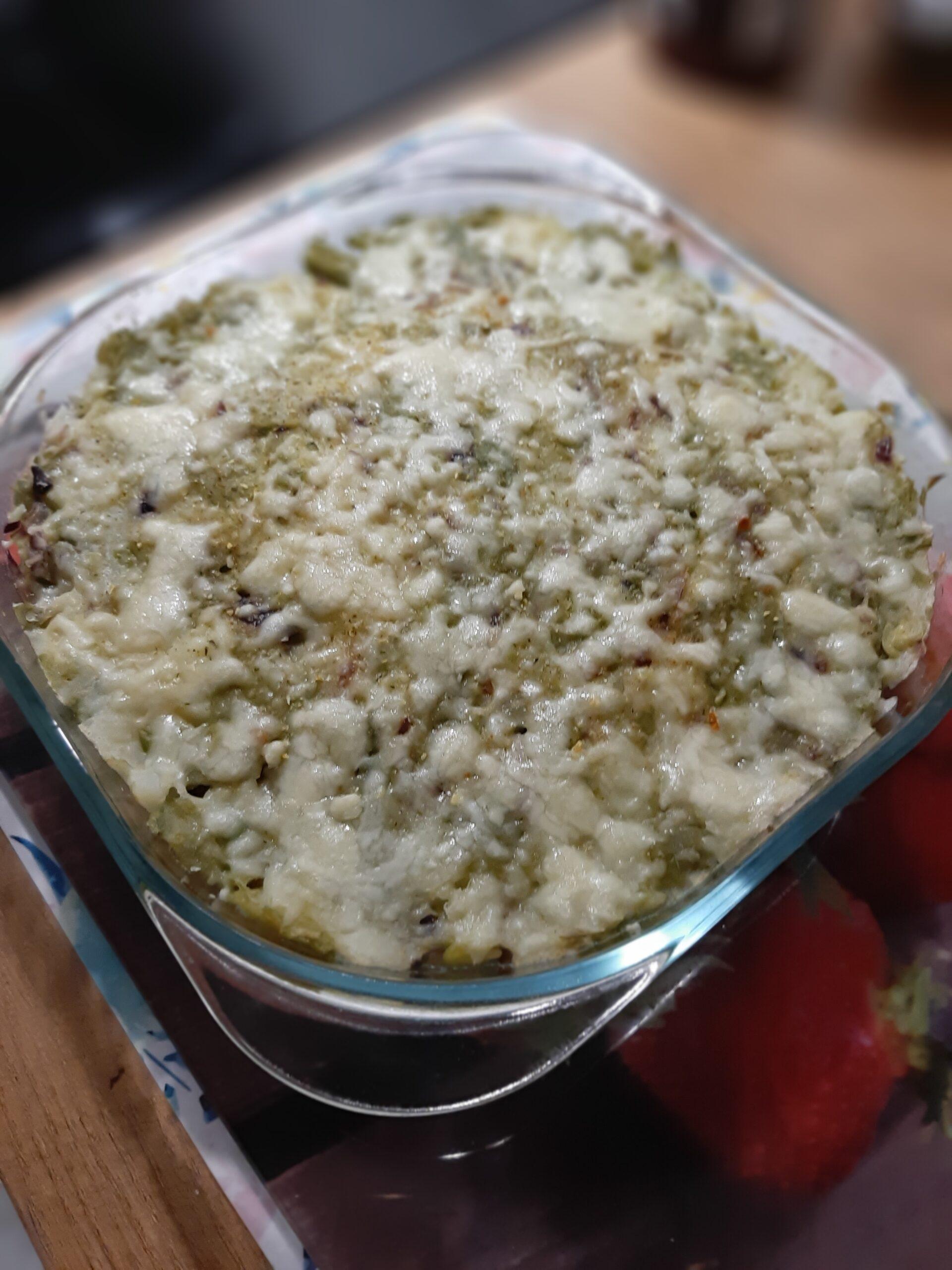 Zapiekanka ziemniaczana z serem i fasolką szparagową (Taroz)